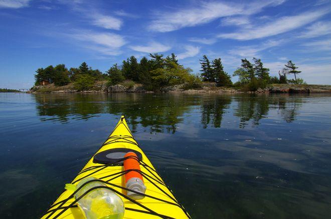Kayaking Trip in the 1000 Islands, Ontario, Canada.