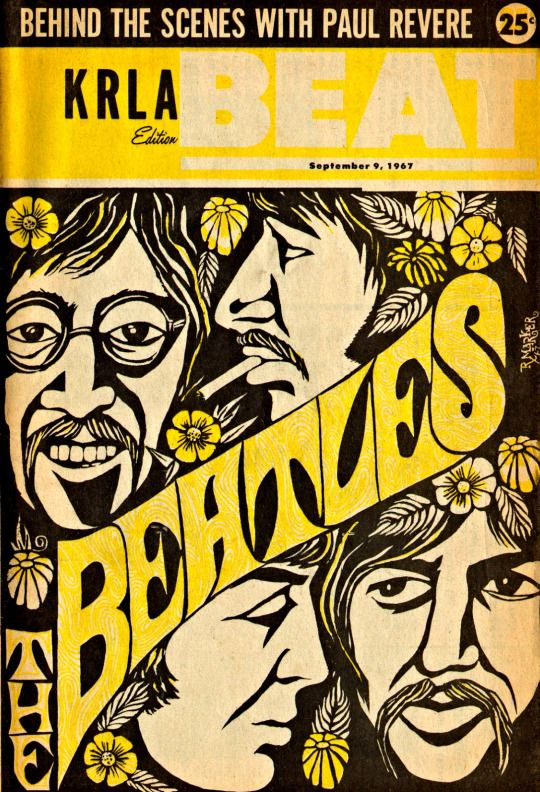 The Beatles cover of The Beat, September 1967 Illustration by R.Marker
