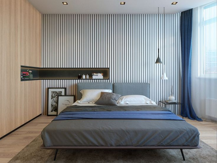 twin minimalistic backgrounds create space and interest in the bedroom a thin small modern bedroommodern bedroom designmodern - Small Modern Bedroom Decorating Ideas