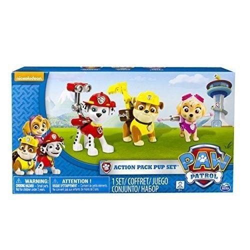 Paw Patrol Figure Set 3 Piece Pups Mini Gift Toys Kids Play Marshall Skye Rubble #PawPatrolFigureSet