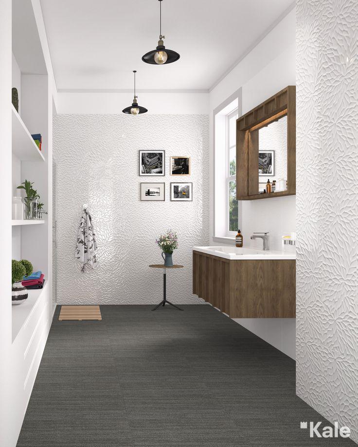 Evinizin diğer odalarında kullandığınız aksesuarlar banyonuza da hoş bir hava katabilir. Şık bir avize, asimetrik resim çerçeveleri ve kuru çiçekler banyonuzda modern bir atmosfer yaratır.  (Banyo mobilyaları: Crate Serisi Duvar seramikleri: #ÇanakkaleSeramik Wabi Koleksiyonu) #Kale #banyo #tasarım #bathroom #bathroomidea #dekorasyon #dekorasyonönerileri #decorationidea #banyodekorasyon #banyodekorasyonfikirleri #bathroomdecor