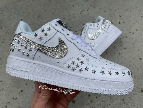 Bling Nike Air Force 1 Shoes Hand Customized with Genuine