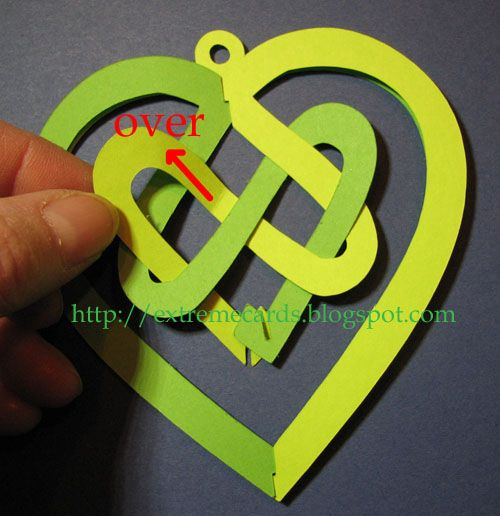 cutting file and photo tutorial for  ... Celtic Knot Valentine ... in these colors ... St. Patick's Day ...