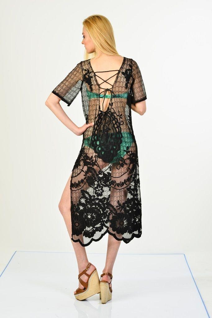 Sanriani Plaj Elbiseleri Siyah/Jessica | Plaj Elbiseleri | Moda Fabrik