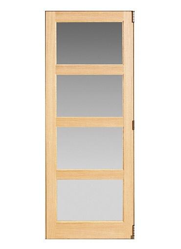Shaker Hardwood Glazed Internal Tri Fold Door