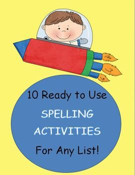 This is a packet of 10 creative spelling activities that are ready to print and use tomorrow in your class.  They will engage your students in high...