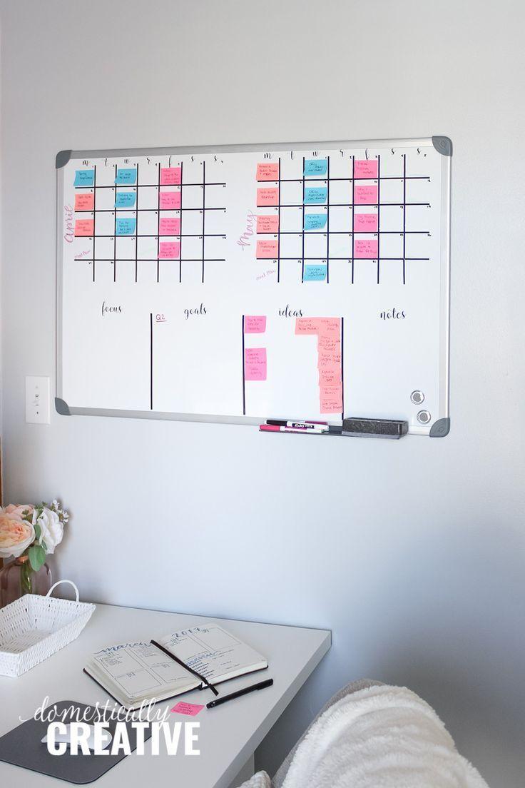 Diy Whiteboard Calendar And Planner Whiteboard Calendar Diy Dry Erase Board Diy Whiteboard