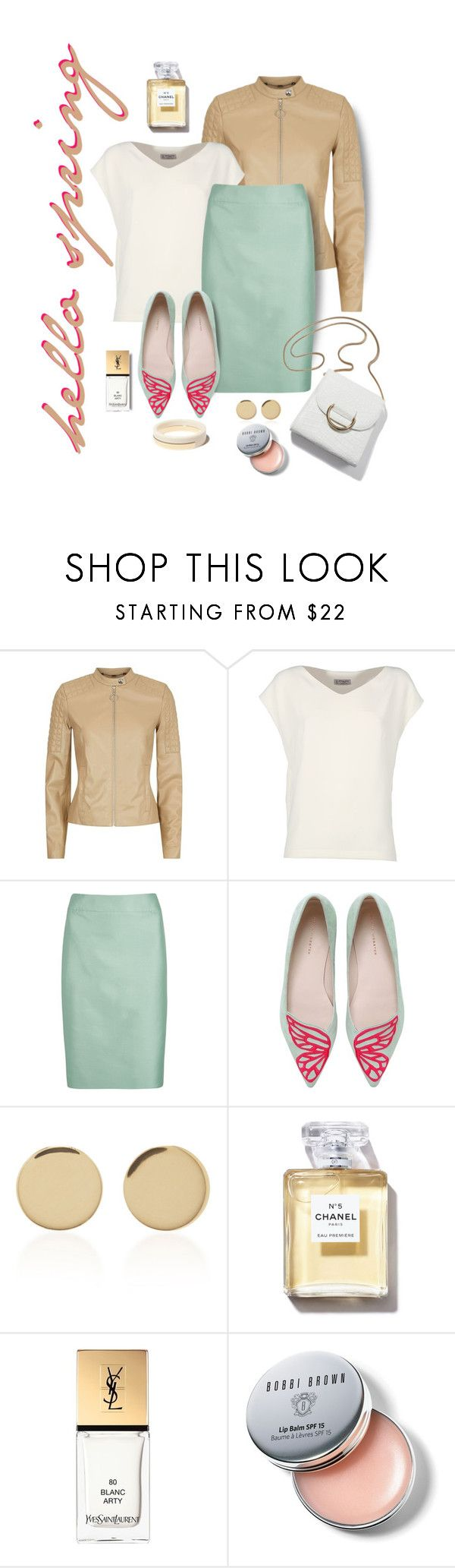 """""""Look of the Day"""" by minnieromanovich ❤ liked on Polyvore featuring Escada Sport, Alberto Biani, Armani Collezioni, Sophia Webster, Magdalena Frackowiak, Yves Saint Laurent, Bobbi Brown Cosmetics and ootd"""