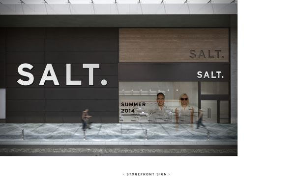 SALT. by Cindy Lin, via Behance