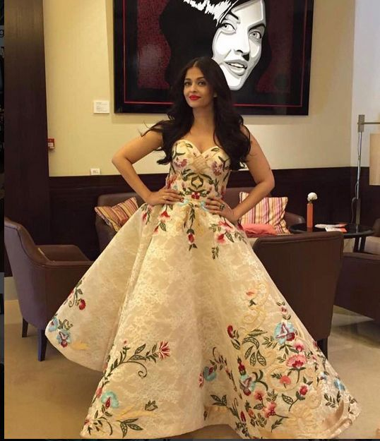 Aishwarya Rai Bachchan In A Beautiful Gown In Cannes 2017