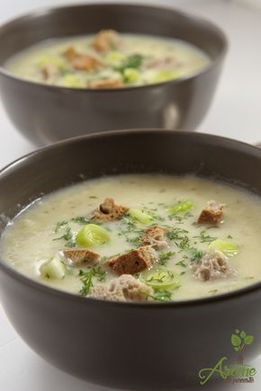 Supa crema de praz cu cartofi