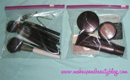Makeup Storage for Traveling and Vacation; Makeup and Beauty Blogs Travel Makeup List