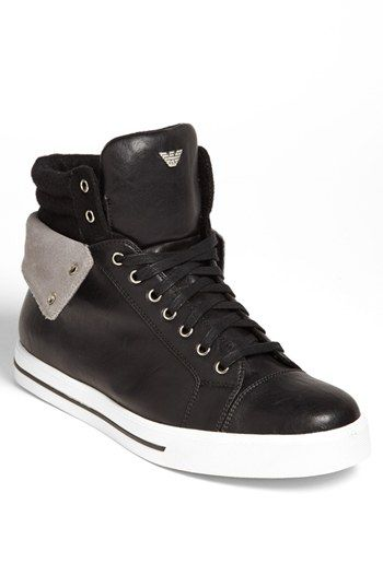 Armani Jeans High Top Sneaker available at #Nordstrom