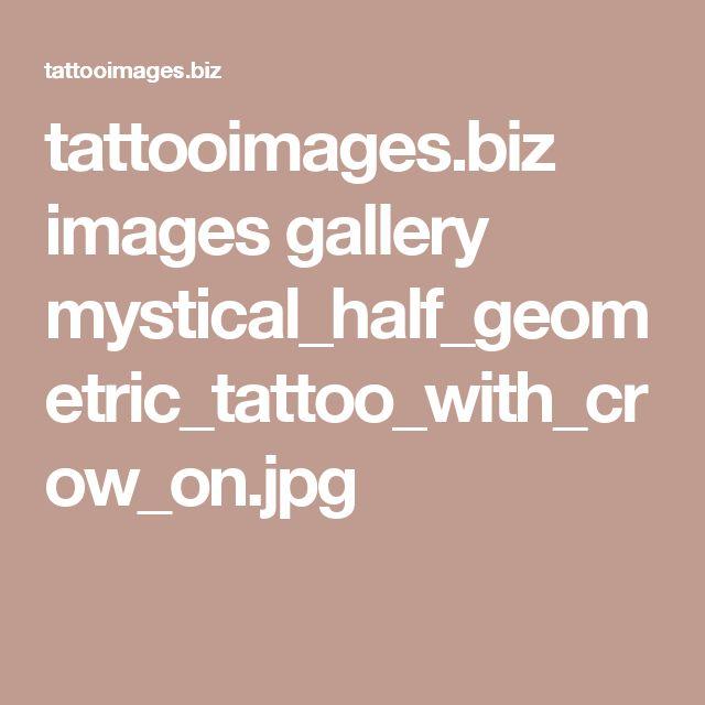 tattooimages.biz images gallery mystical_half_geometric_tattoo_with_crow_on.jpg