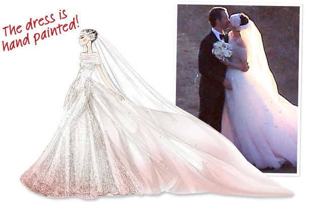 #AnneHathaway may have played a princess for The Princess Diaries, but that was nothing compared to her fairy-tale custom-created Valentino Garavani design. http://news.instyle.com/2012/10/04/anne-hathaway-valentino-wedding-dress-details/#