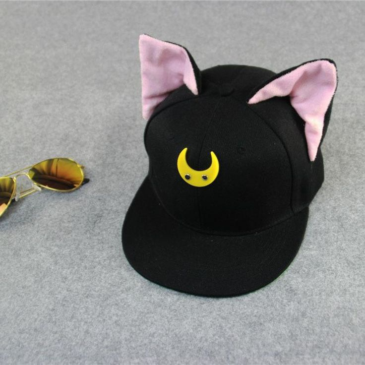 Fashion Cotton Cute Cat Ears Moon Baseball Cap Snapbacks