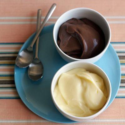 Домашний ванильный пудинг на желтках