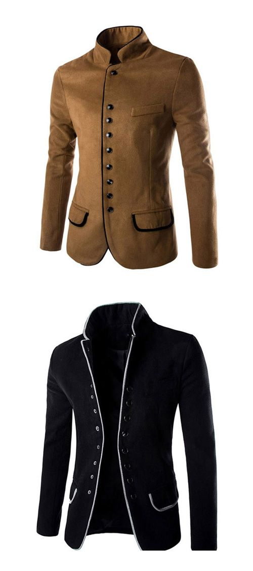 New Arrival Men's Casual/Daily Work Simple Spring Fall Blazer