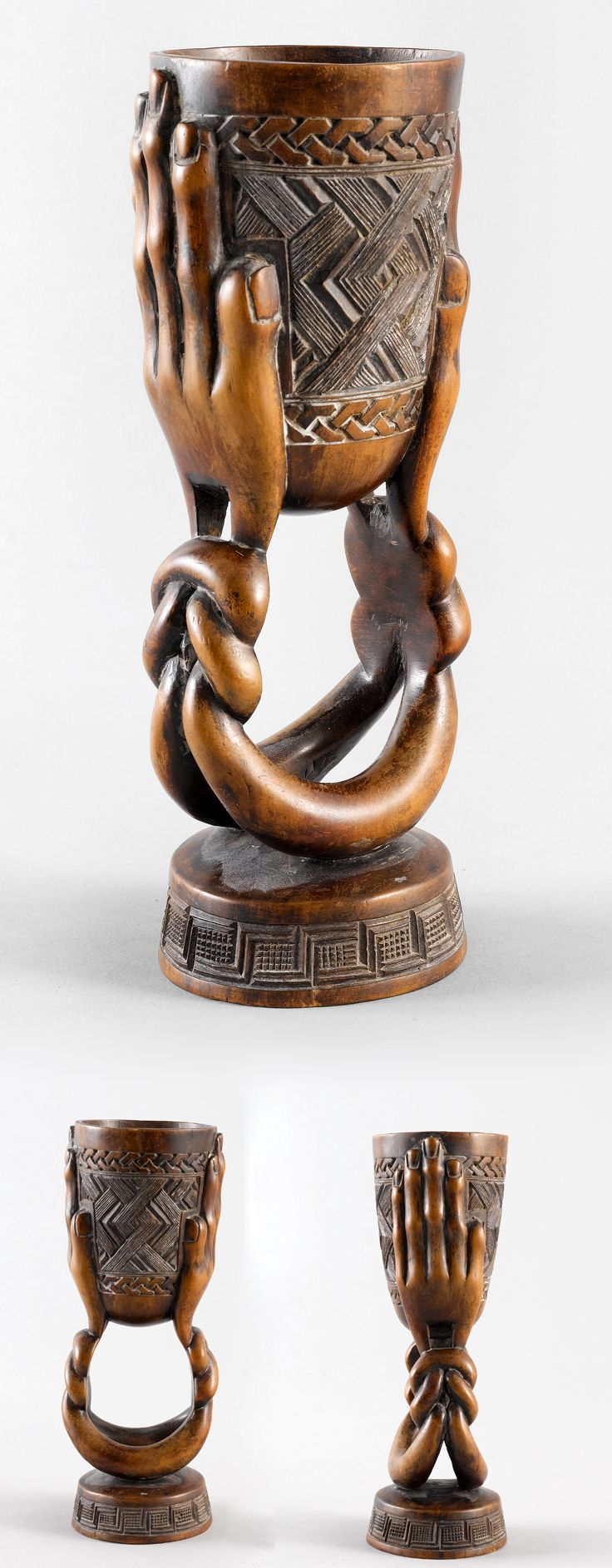African Cup from the Kuba people of DR Congo | Carved Wood.
