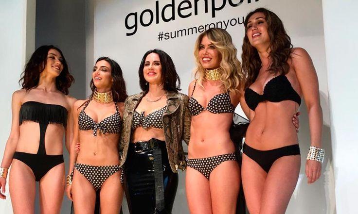 Costumi Goldenpoint 2017: Foto Sfilata e Catalogo - https://www.beautydea.it/costumi-goldenpoint/ - Goldeinpoint ha organizzato una sfilata per presentare i costumi da bagno del nuovo catalogo moda mare estate 2017. Si preannuncia un'estate calda dal gusto fashion.
