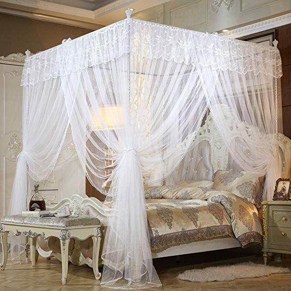 Amazon Com Mengersi Princess Four Corner Post Bed Canopy Mosquito