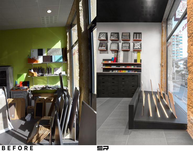 Rénovation d'un magasin de carrelage Lyon 6e