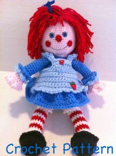 Rag Doll Annie CROCHET PATTERN ONLY by FuzzyFeetDesigns on Etsy, $5.00