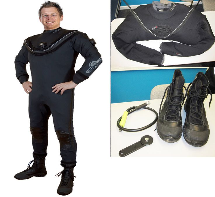 Aqualung Whites Fusion Sport Drysuit Scuba Diving Package SM/MD Dive Dry Suit