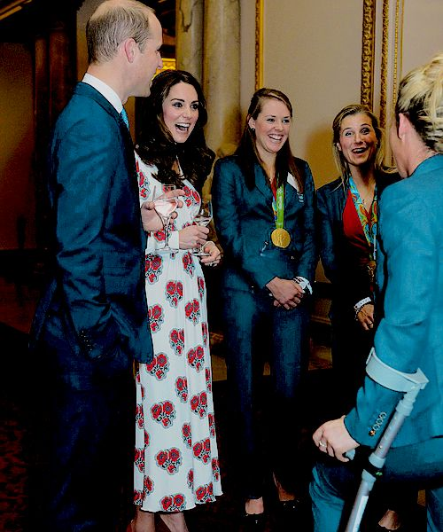 The Duke and Duchess of Cambridge attend a reception for Olympic and Paralympic medalists at the Rio Olympic Games, October 18th 2016.
