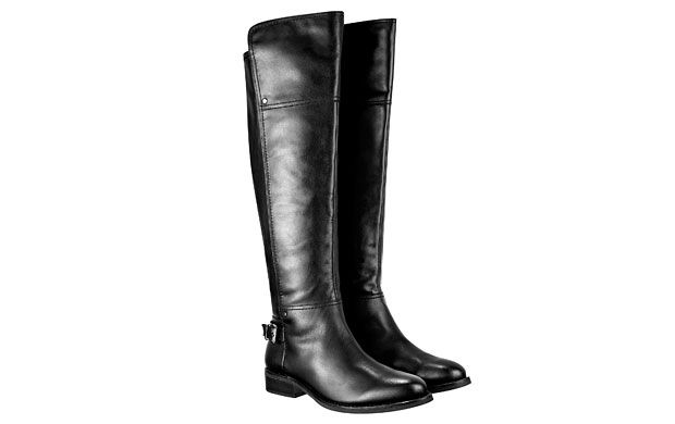 "Over The Knee Boot. ""Smarten your off-duty look with these classic black riding boots, an easy choice for effortless style."""