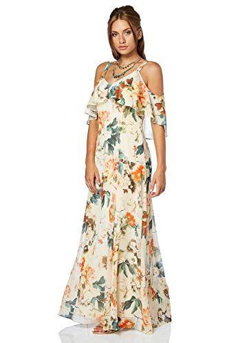 dccdf2b0d13 Roman Originals Femme Robe Maxi Longue Épaules Dénudés Légère Floral - Printemps  Ete Grande Taille Fleurs