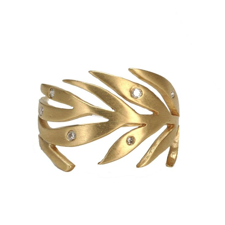 Gold Leaf Dew Ring - Marc Alary - Fine Jewelry