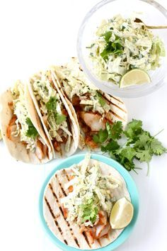 Fish Tacos with Jalapeno Slaw