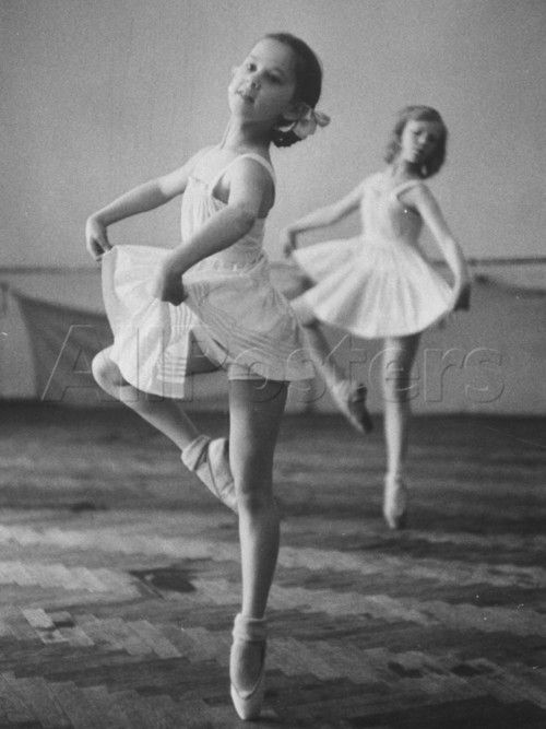 """Children of the soviet era in ballet class at one of the """"Pioneer Palaces' (training centers to make good little communists out of children)"""