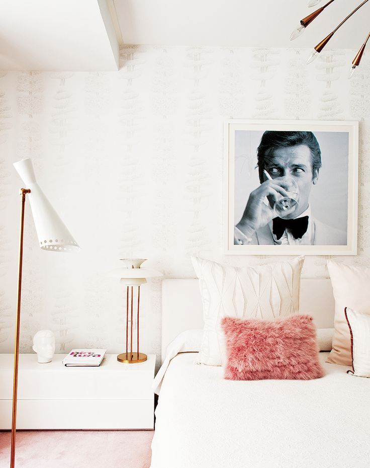 Inside a Groovy Pad Fit for a QueenDecor, Ideas, Inspiration, James Bond, Interiors Design, Pink, House, Bedrooms, Apartments