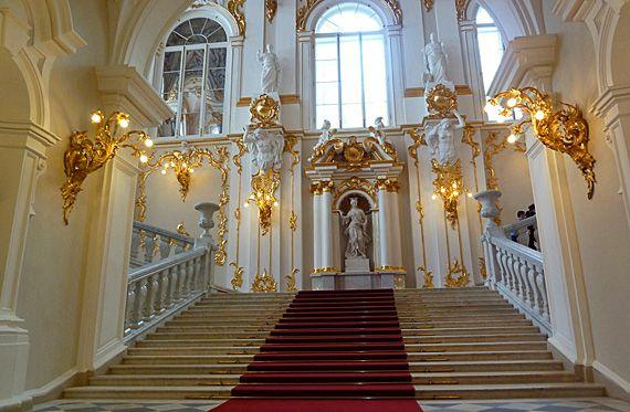 Escadaria Jordan, Hermitage, São Petersburgo. Foto: Marcie Grynblat Pellicano