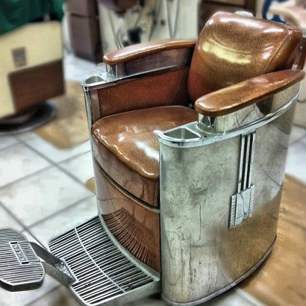This chair is second to none.. like old cars this chair exhibits some style! Art Deco barber chair.