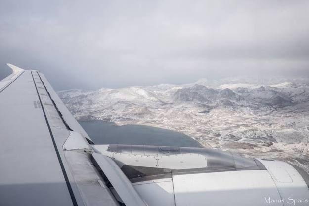 Δείτε μαγευτικές εικόνες: Η Λήμνος χιονισμένη από ύψος