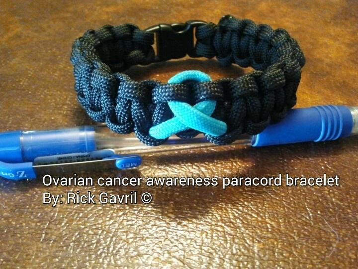 Ovarian cancer awareness Paracord survival bracelets $7