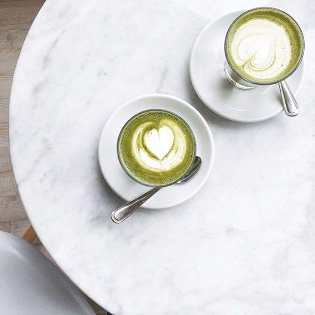 The Monday Morning Fix  Matcha Green Tea Marble Flatlay