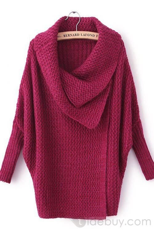 Gorgeous Loose Cardigan Bat Sleeves Lapel Coarse Thicken Knit Sweater : Tidebuy.com