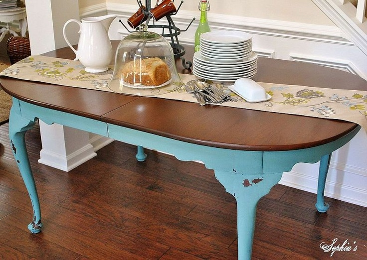 Wood White Dresser And Milk Paint Dining Table Makeovers