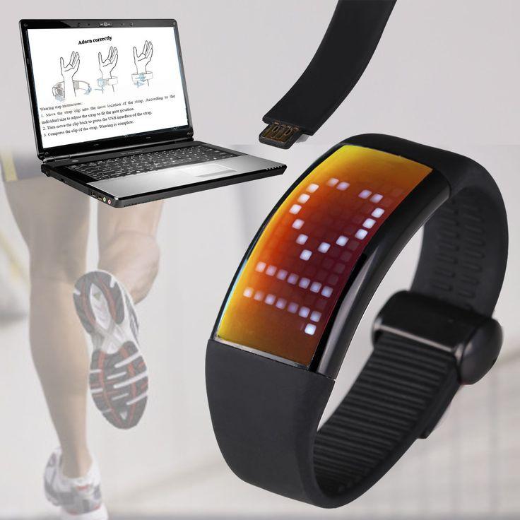 Reloj digital con cuenta calorías, podómetro y software de seguimiento físico - Memoria de 8GB