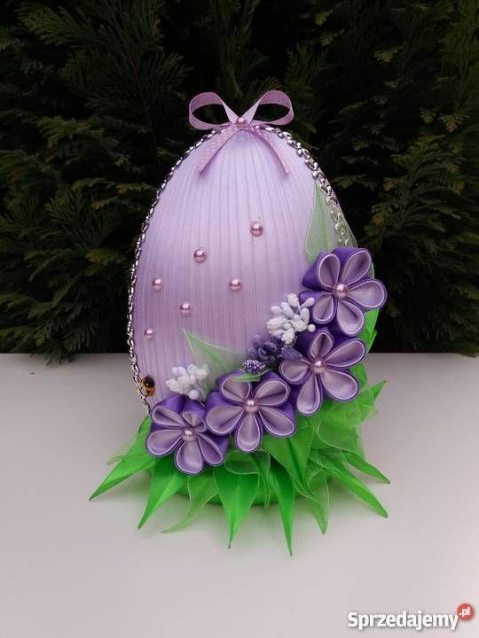 Jajko wielkanocne kanzashi dekoracja ozdoba Dekoracje i ozdoby Wyposażenie wnętrz małopolskie
