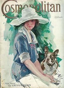 Illustration by Harrison Fisher, Cosmopolitan magazine cover art, July 1922
