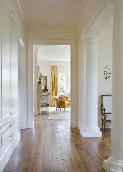 wood floors and moldings