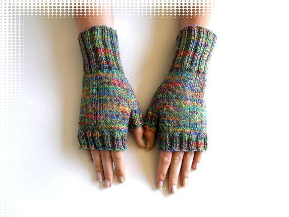 Vingerloze wanten  handschoenen Regia Mosaik door Carolinevantveer