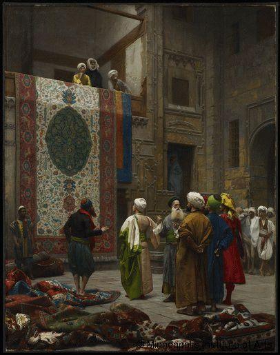 Jean-Léon Gérôme,Marchand de tapis au Caire,© Minneapolis Institute of Arts