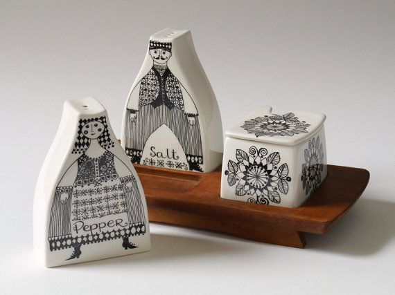 Nordic Thoughts: Figgjo Flint pottery cruet set, Norway