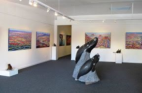 Paintings by Siv Grava with sculpture by Silvio Apponyi